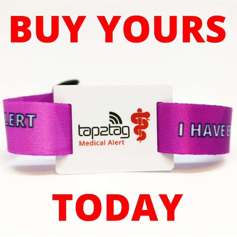 Tap2Tag Epilepsy Wristband