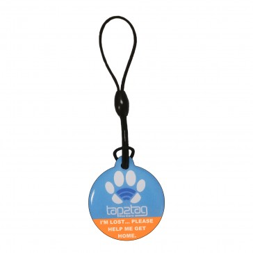 Pet tag blue Front
