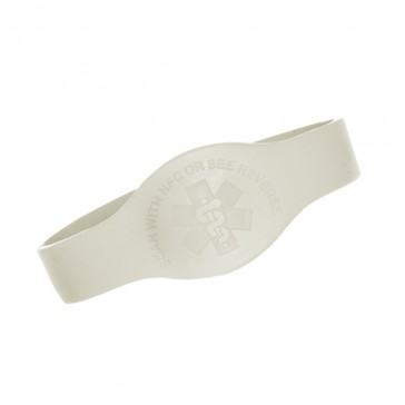 White Teardrop Medical Alert Wristband