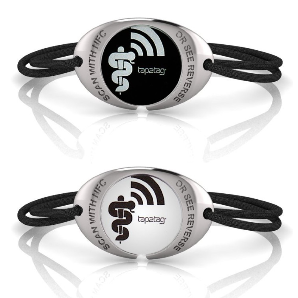 Tap2tag K1 Medical Alert Bracelet In Silver