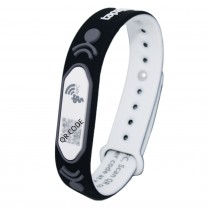 Black Adjustable Medical Wristband V2, with NFC and QR code (No subscription required)