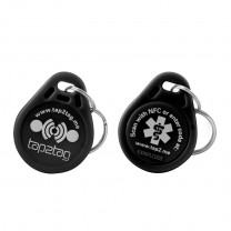 Tap2Tag Medical Black Plastic Keyfob