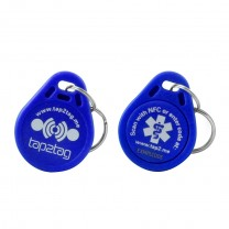 Tap2Tag Medical Blue Plastic Keyfob