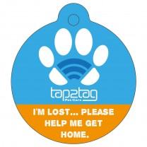 Pet tag Blue upper Front