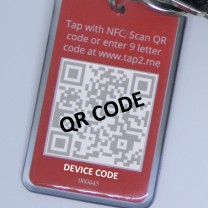 Close up view of back of key fob