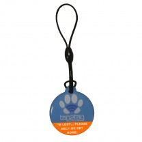 Pet tag Blue upper front