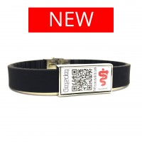 Adjustable Medical Alert Wristband V3 with QR/NFC (No subscription required)
