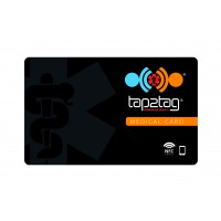 Tap2Tag Black Emergency Medical Card (V2) with QR code (NO SUBSCRIPTION)
