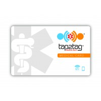 Tap2Tag White Emergency Medical Card (V2) with QR code (NO SUBSCRIPTION)