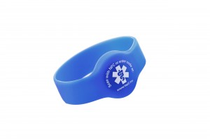 tap2tag blue medical alert wristband